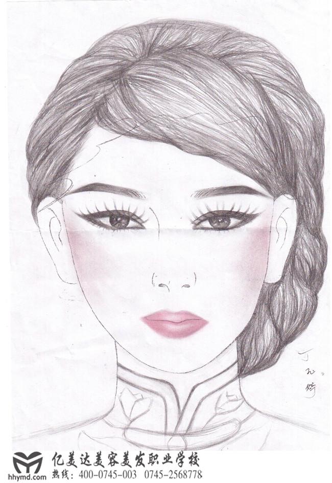 初级v平面班平面学会学员图作品美人设计师要画画手绘吗图片