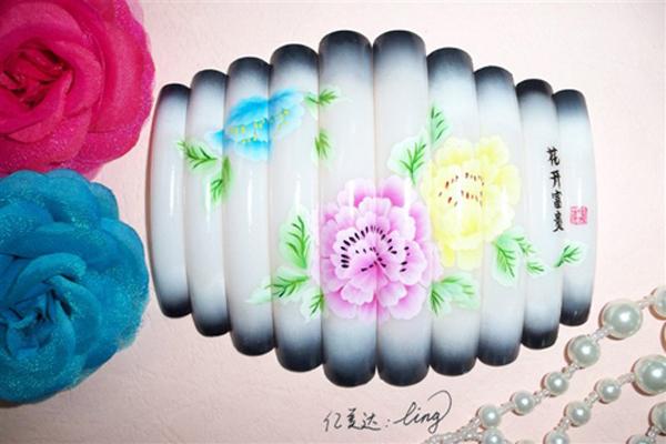 怀化化妆美甲学校 彩绘美甲作品 美甲图片