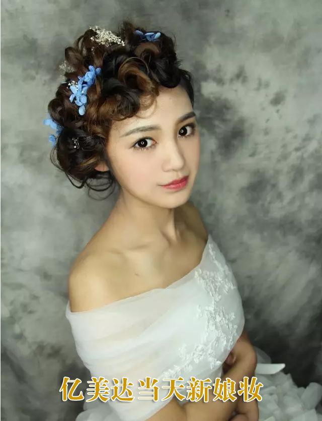 怀化化妆培训  亿美达当天新娘造型作品