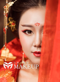 怀化化妆培训 |亿美达当天新娘造型作品